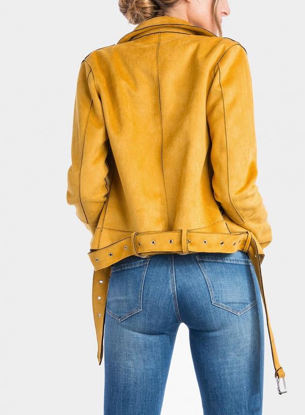 Costas de blusão Biker amarelo da Tiffosi