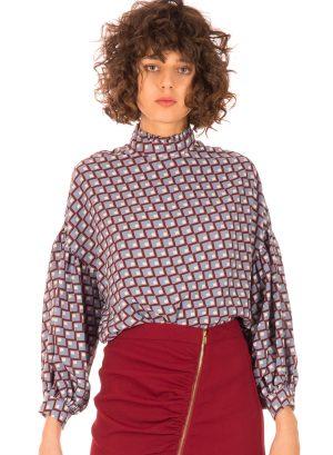 Blusa com padrão geométrico para mulher da Minueto