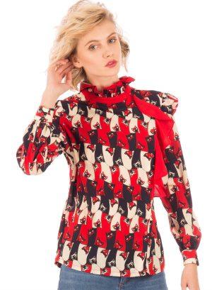 Blusa print gatos da Minueto para mulher