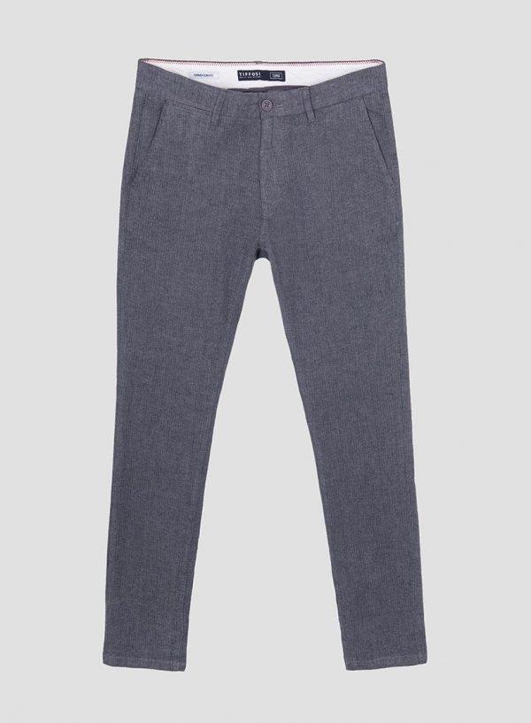 Calças chino slim fit espinhada para homem da Tiffosi
