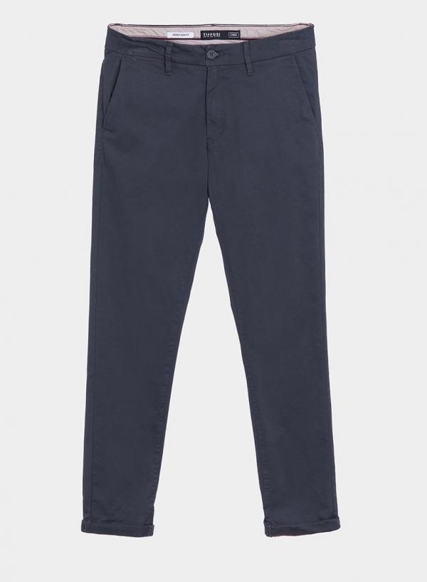 Calças chino slim fit em azul escuro para homem da Tiffosi