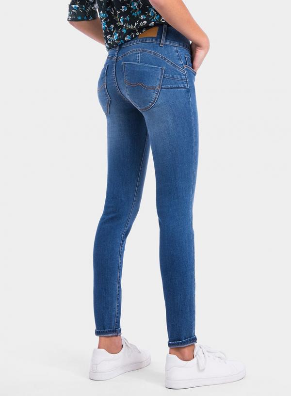 Parte de trás das calças de ganga Double-Up Skinny da Tiffosi