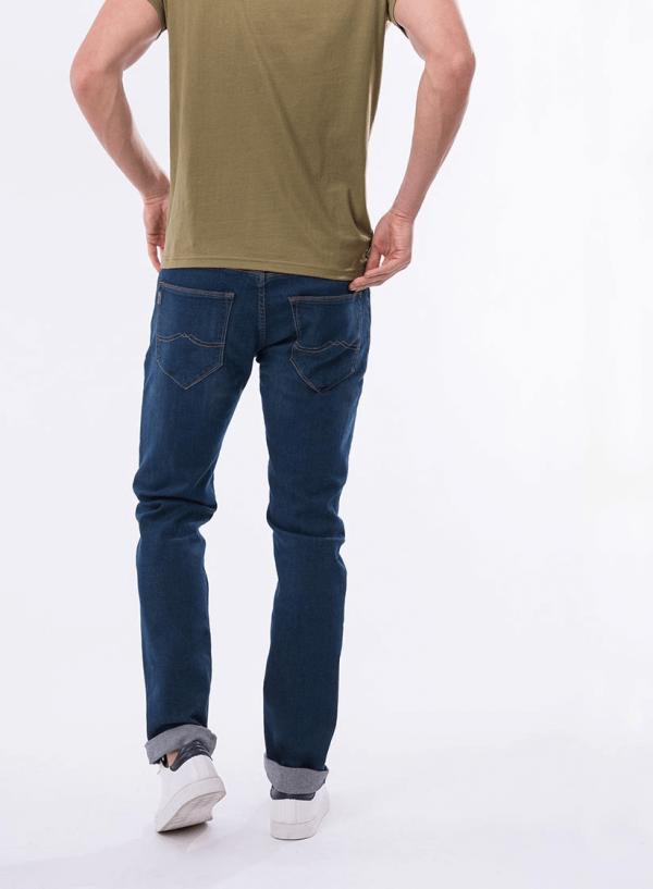 Parte de trás das calças de ganga John slim para homem da Tiffosi