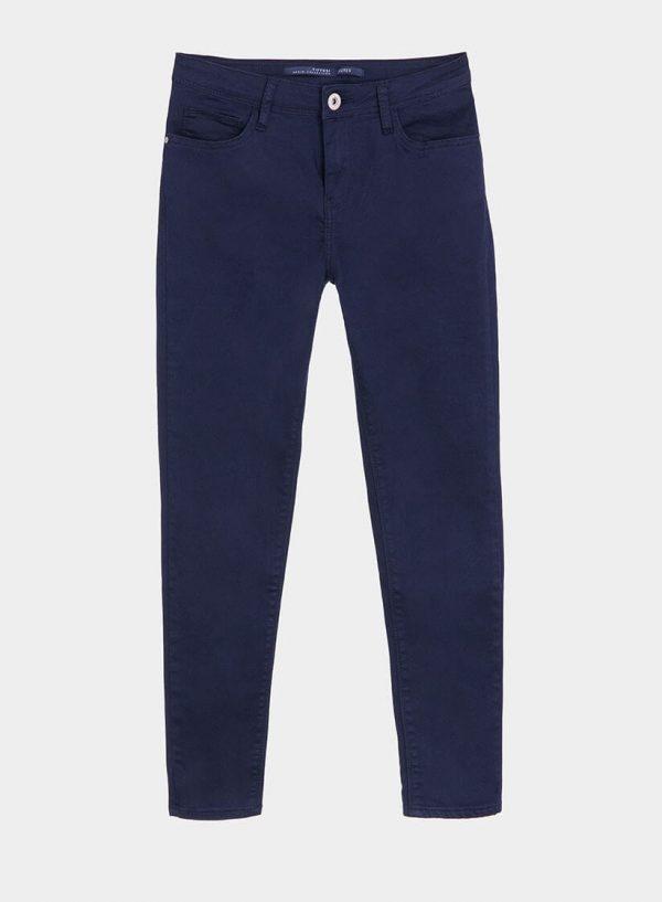 Calça básica de sarja azul cinta média para mulher da Tiffosi
