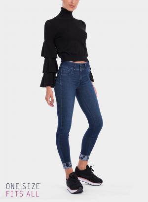 Lateral de calças de ganga onesize_double Up Skinny