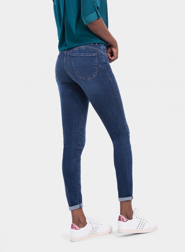 Parte de trás de calças de ganga Push-Up Skinny da Tiffosi