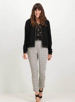 Calças regular em xadrez Garcia Jeans para mulher