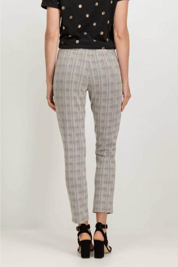 Parte de trás de calças regular em xadrez Garcia Jeans para mulher