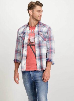Camisa de xadrez com molas para homem da Garcia Jeans