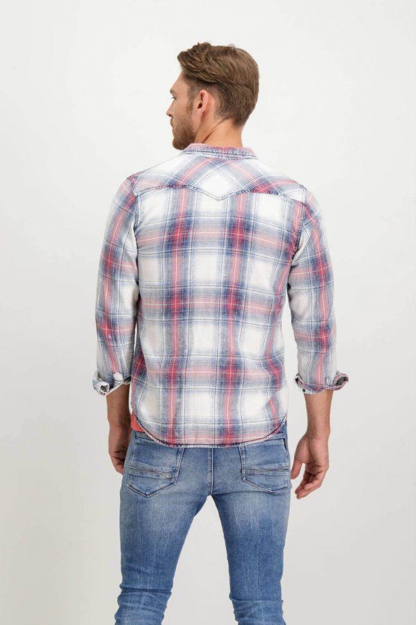 Costas da camisa de xadrez com molas para homem da Garcia Jeans