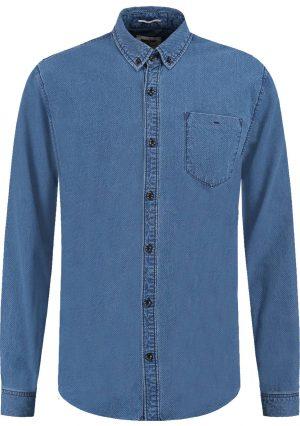 Camisa azul com mangas compridas para homem da Garcia Jeans