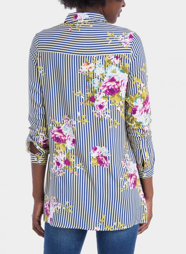 Costas de camisa comprida com estampa floral da Tiffosi