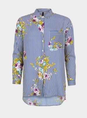 Frente de camisa comprida com estampa floral da Tiffosi