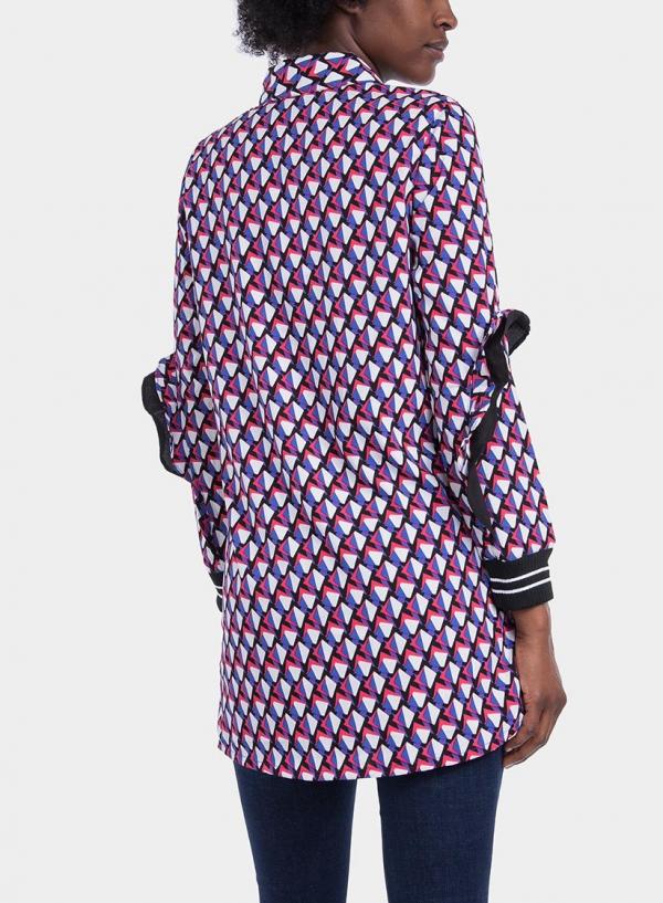 Costas de camisa comprida com print geométrico da Tiffosi