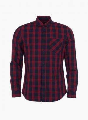 Camisa regular fit xadrez vermelho para homem da Tiffosi