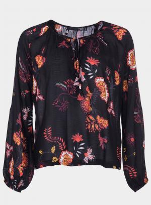 Frente de blusa com estampado floral da Tiffosi