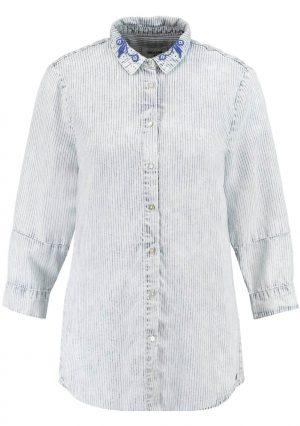 Camisa de riscas com colarinho bordado para mulher da Garcia Jeans