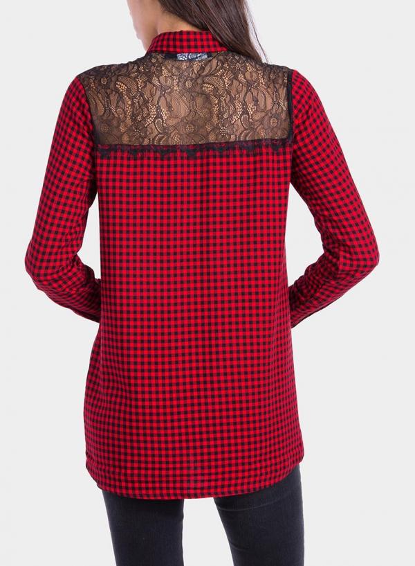 Costas de camisa de xadrez de Tiffosi