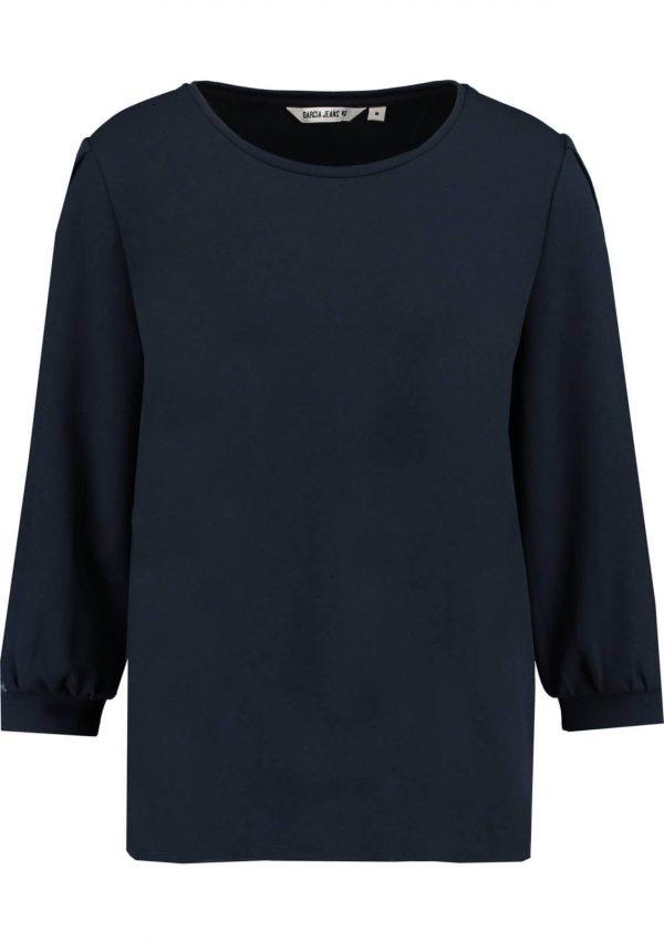 Camisola com manga 3/4 da Garcia Jeans em azul marino para mulher