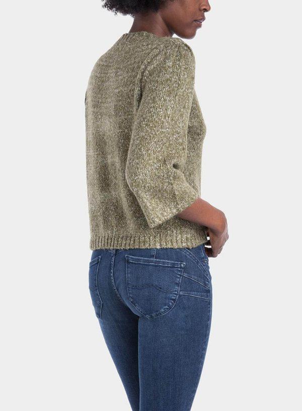 Costas de camisola manga larga com ilhós para mulher da Tiffosi