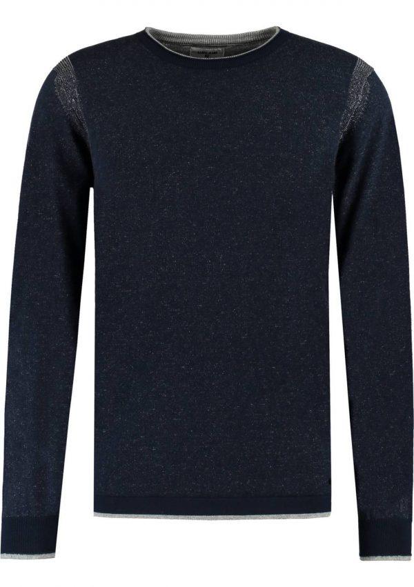 Camisola azul com decote redondo para homem da Garcia Jeans