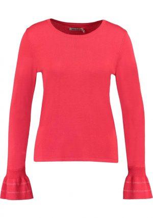 Camisola vermelha com gola redonda de mulher da Garcia jeans