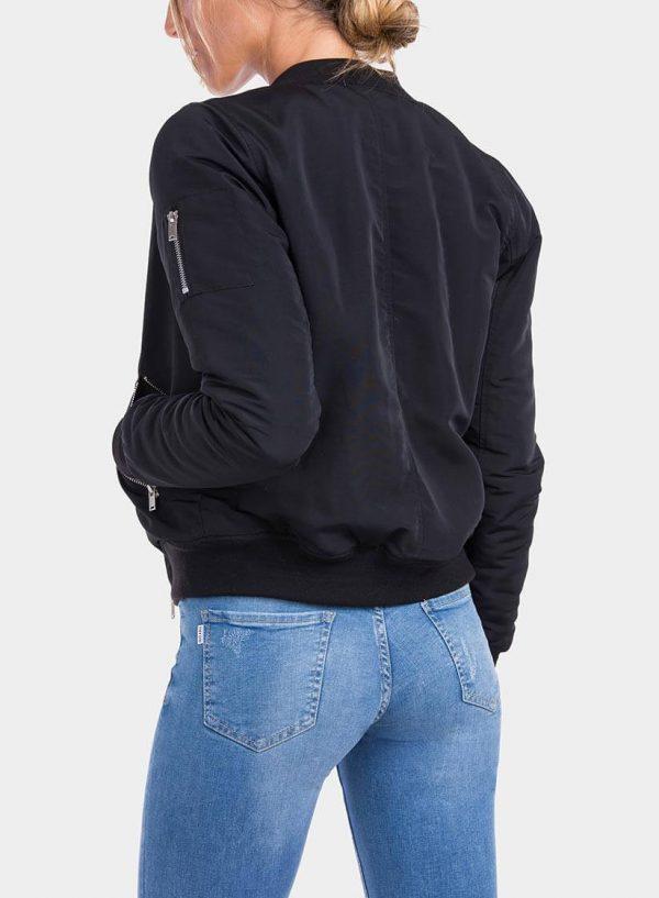 Costas do casaco bomber fecho na manga da Tiffosi