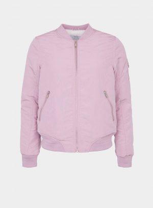 Casaco bomber fecho na manga rosa da Tiffosi