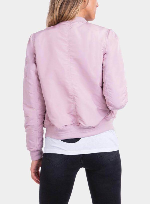 Costas de casaco bomber fecho na manga rosa da Tiffosi