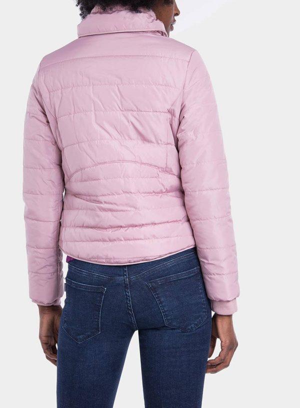 Costas de casaco acolchoado com pelo na gola de mulher da Tiffosi