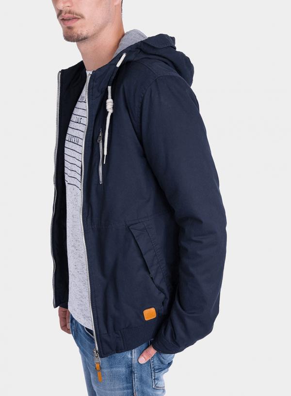 Lateral de casaco com Capuz pormenor cordões em azul marino para homem da Tiffosi