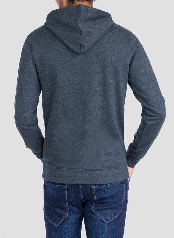 Costas de hoodie estampado cinza escuro da Tiffosi para homem