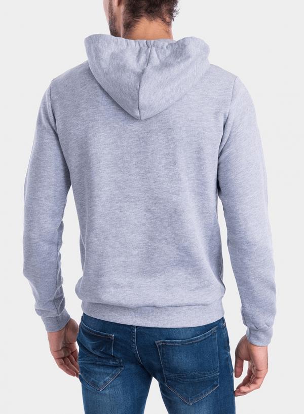 Costas de hoodie cinza claro com capuz da Tiffosi para homem