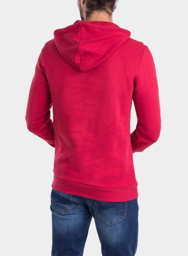 Costas de hoodie vermelho com capuz para homem da Tiffosi