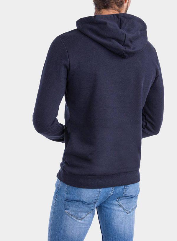 Costas de hoodie azul marino com capuz da Tiffosi para homem