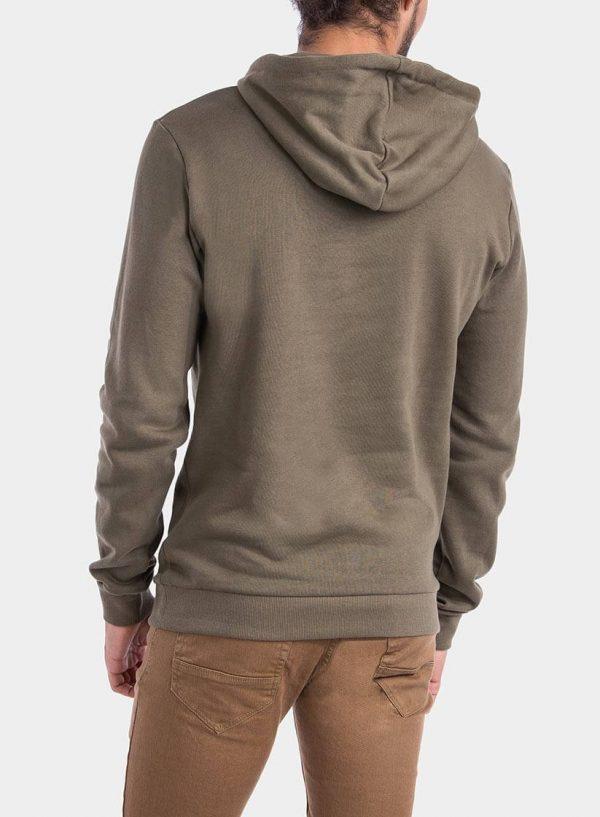 Costas de hoodie verde com capuz da Tiffosi para homem