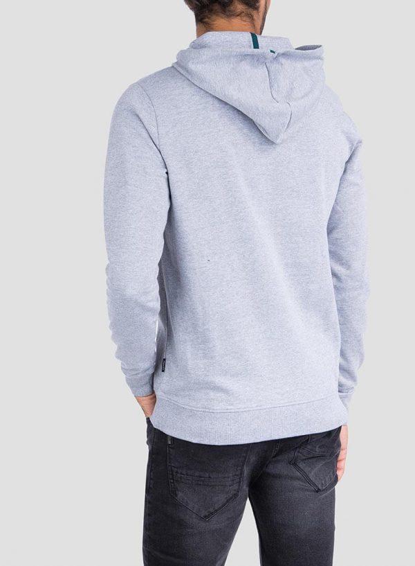 Costas de hoodie estampado cinza claro da Tiffosi para homem
