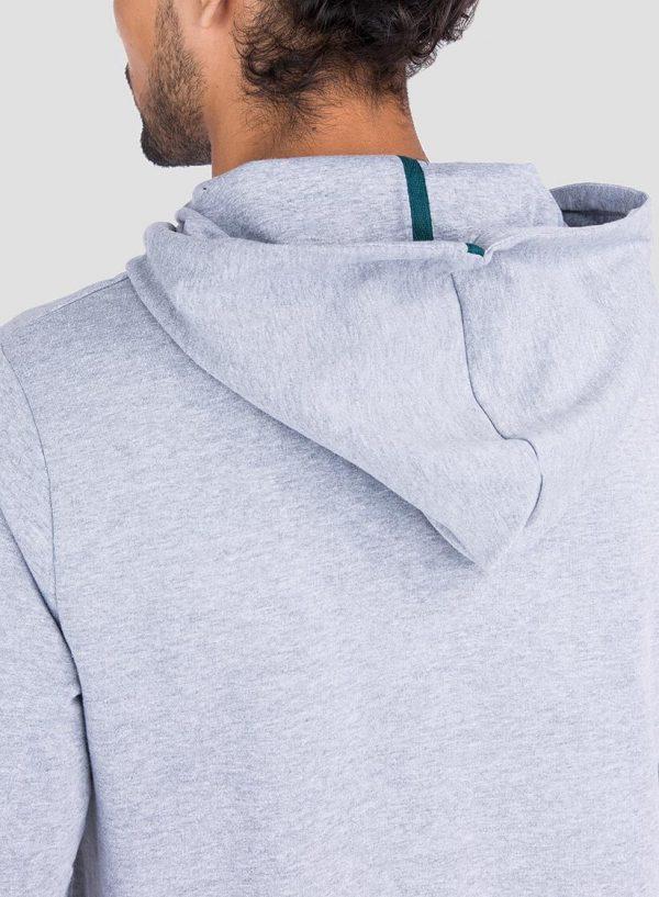 Capuz de hoodie estampado cinza claro da Tiffosi para homem