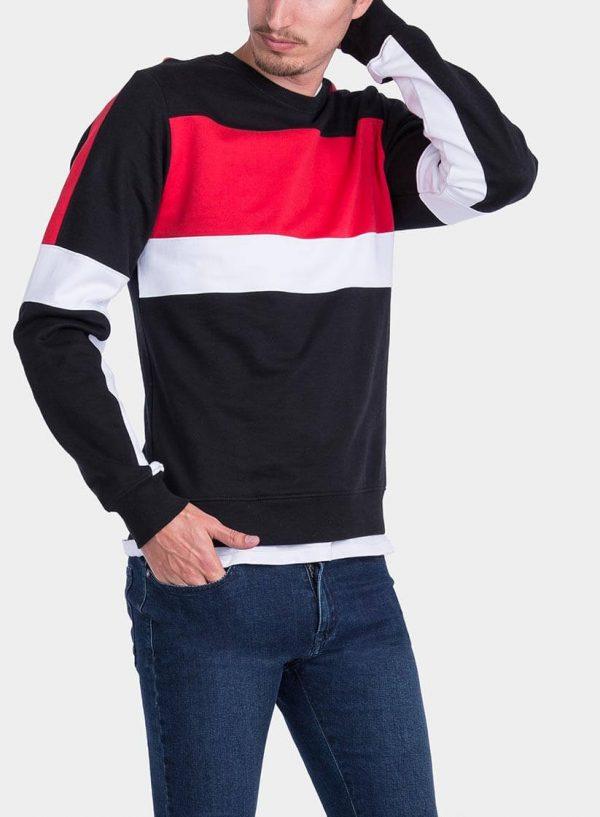 Pormenor da frente Sweatshirt tricolor da Tiffosi para homem