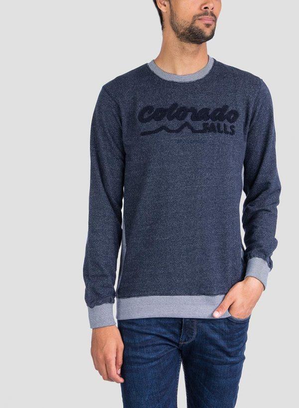 Frente ampliada de sweatshirt texto relevo Tiffosi para Homem