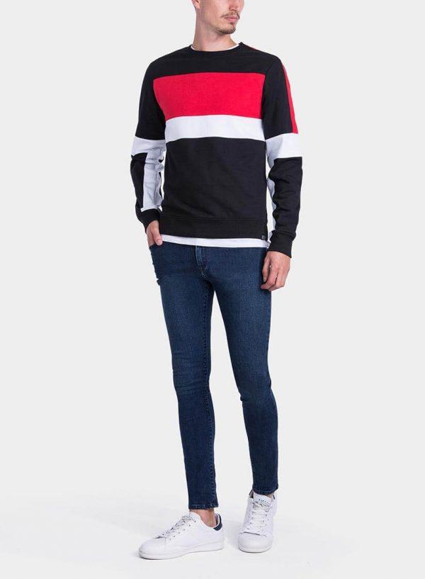 Frente de Sweatshirt tricolor da Tiffosi para homem