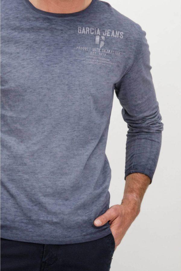 Frente de T-shirt pré-lavada da Garcia Jeans