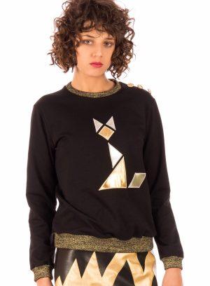 Sweatshirt com gato Minueto para mulher