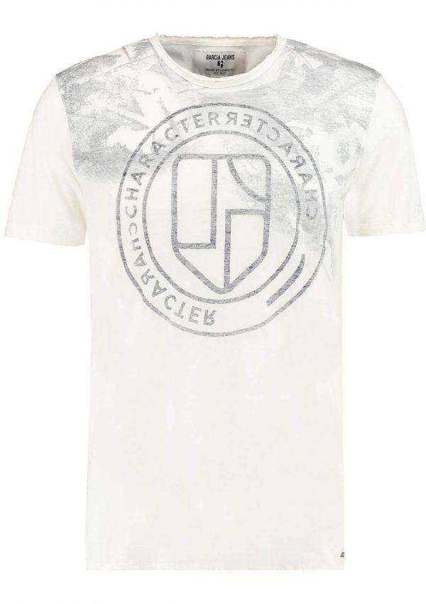 T-shirt branca com símbolo Garcia Jeans para homem