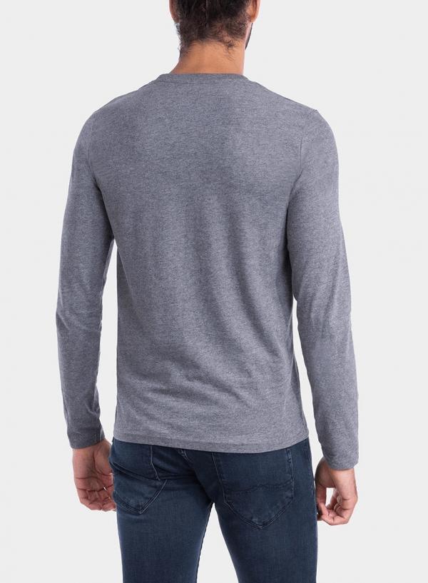 Costas de t-shirt cinza escuro com impressão para homem da Tiffosi