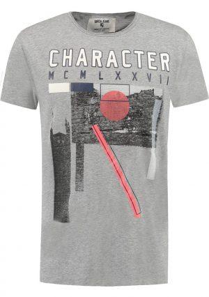 T-shirt com print Garcia Jeans em cinza para homem