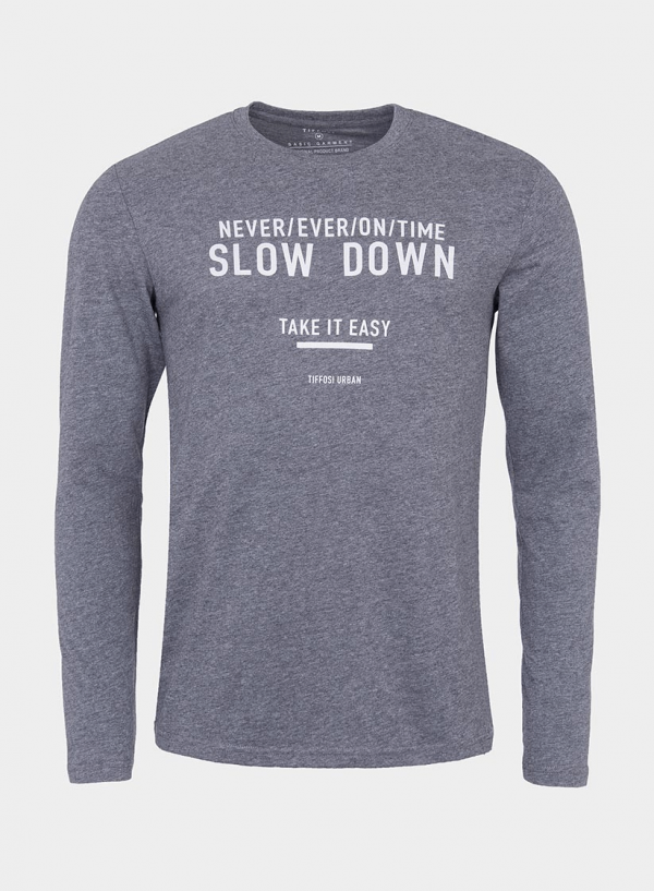 T-shirt cinza escuro com impressão para homem da Tiffosi