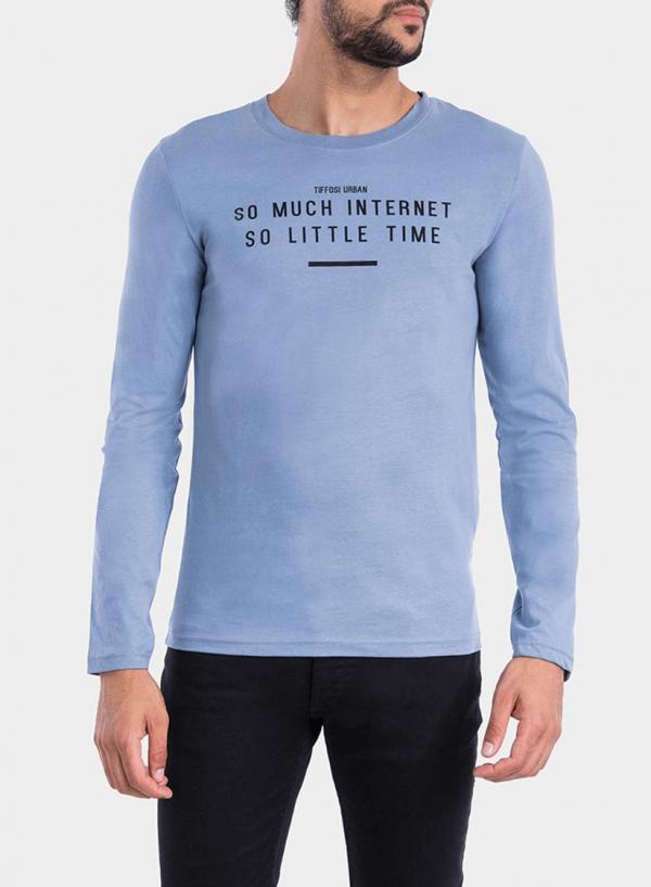 Frente de t-Shirt azul claro com impressão para homem da Tiffosi
