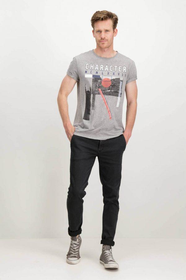 Frete da t-shirt com print Garcia Jeans em cinza para homem