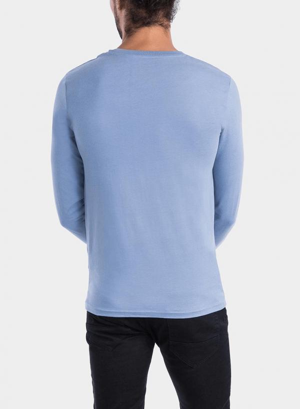 Costas de t-Shirt azul claro com impressão para homem da Tiffosi